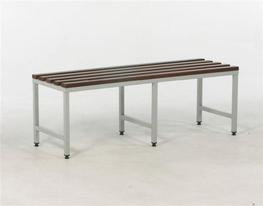 Our slatted mahogany bench is the ideal bench seating solution for those looking for cloakroom equipment that is not only practical, but stylish too.  Also available in oak or beech (pricing on request).  With a sturdy square tube frame and solid utile mahogan...