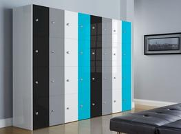 High Gloss Office Lockers - Four Door image