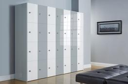 High Gloss Office Lockers - Four Door - 3D Lockers