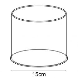 20cm circular tub (acrylic tubs & containers) image