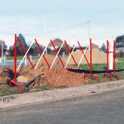 This Expanding Barrier is a perfect solution to mark off temporary work sites or areas that may present hazards to pedestrians or employees.  Made of steel with red and white lacquer Standing 1 meter high Extending up to 3 meters 200mm when closed Free standin...