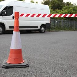 Retractable Tape Traffic Cone Topper (3m) - Express Delivery image