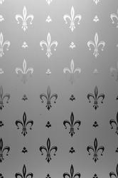 These designs have an etched surface with a clear design....