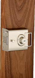 Lock to British Standard 3621,Patented and Insurance approved.Please note: The L2000 Rim Deadbolt lock is inward opening only, suitable for doors with a thickness between 30mm and 50mm. For doors thicker than 50mm, we need to extend the cylinder so please co...