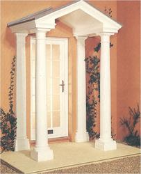 The Richmond comes complete with pediment and ceiling with a detachable grey roof with lead roll features, two Doric style columns with matching wall pilasters and will accommodate entrances from 914mm to 1030mm wide. It is supplied in standard overall width o...