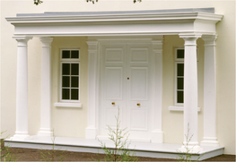 The Wellington will accommodate entrances from 914 m to 4780 mm wide and is supplied complete with Doric columns and matching wall pilasters as illustrated, with pediment and ceiling units and detachable lead grey roof. Produced in standard or non-standard ove...