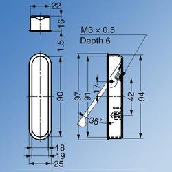 Pocket Door Pull Handle image