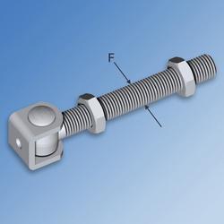 Galvanised Long Rod Hinge with Bracket image