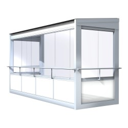 This option has larger windows to give even more air and space.From inside: This option allows you to open up a larger part of the balcony. A handrail outside the glass panes means that you can lean out comfortably and safely.From outside: The low parapet ...