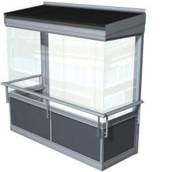 Balco Vision™ combined with a folding glass system without a frame gives the impression of a single expanse of glass.