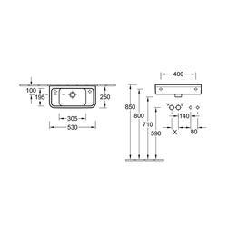 D-Style Compact Handwash Basin (VBSW-20-3225) image