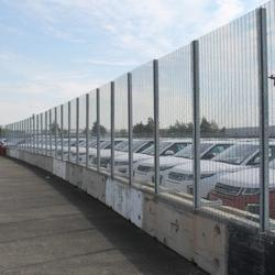 The MultiFence temporary security fencing system is a mobile, durable solution for sites that require temporary to long-term protection.  A temporary security fencing solution that can be supplied with HiSec, HiSec Super 6 or ArmaWeave panels. PAS 68 enhancements can also be incorporated (see MultiFence PAS 68 for more details).  The fence posts are mounted to concrete blocks, which saves a considerable space over using separate road blocks and temporary security fencing. MultiFence can to follow a curve or go from a flat surface to an incline with ease due to an ingenious bolting method.  Post clamps are mounted in receiving fixings that are actually cast into the concrete block, hence resulting in an incredibly robust fence line.  MultiFence can also combine two different fencing types with two different BS EN 1317 Part 2 vehicle restraint system blocks. Approved for use by the Highways Agency, depending on the site requirements.  Flexible added features also enable specifiers to incorporate CCTV, PIDs, fence topping enhancements, vehicle gates and pedestrian access points. The need for any below ground foundations can be eliminated due to the innovative foundation blocks.  MultiFence is the perfect temporary security fencing solution for use around temporary events to secure high profile areas. MultiFence can also be used to secure construction sites or other permanent and temporary sites to protect them from unauthorised access.  ACPO has approved and accredited MultiFence as a Secured by Design product and is available to rent or buy.