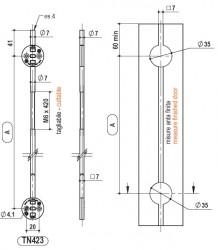 TN403 & TN423 - Concealed Door Straightener Bars - Sugatsune Kogyo UK Ltd