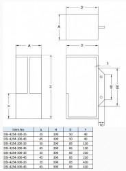DSI-4254 Sliding Door Handle - Sugatsune Kogyo UK Ltd