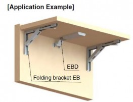 EB & EBD - Heavy Duty Folding Bracket & optional Damper - Sugatsune Kogyo UK Ltd