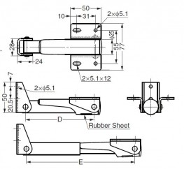 388 - Folding Bracket with Lever to Lock in Open Position - Sugatsune Kogyo UK Ltd