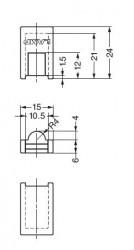 AP-FC20 - Shelf Support Cap (for the AP-FB20) - Sugatsune Kogyo UK Ltd