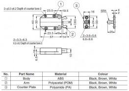 MC-37F - Non-Magnetic Touch Latches - Sugatsune Kogyo UK Ltd