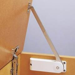 A soft-down stay for flaps and doors that open upward with piano, butt or concealed hinges. Please note that this stay is intended to be used in pairs, when purchasing please choose the appropriate left and right hand stays. The stay is made from steel finishe...