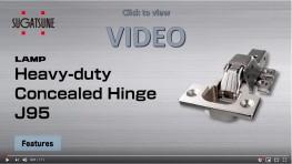 J95 - Heavy Duty Concealed Hinge