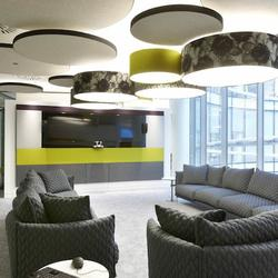 These creative, lightweight, suspended acoustical treatments hang from any ceiling and provide focused or broad sound absorption. The design possibilities are endless; virtually any geometric shape can be achieved in standard and custom thicknesses. Easily inc...
