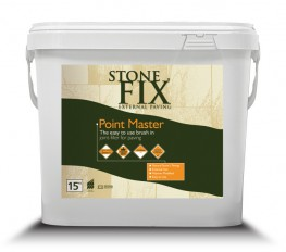 StoneFix Point Master is a single component joint filling system for the simple and rapid pointing of paved areas with joints over 5mm. Ready for use and easily applied by brushing into joints. Available in two colours, buff and grey.