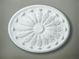 Oval ceiling rose with leaf enrichments  686 x 534mm