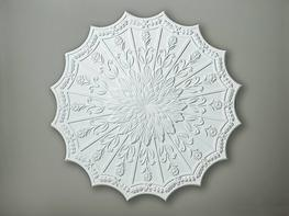 CC16 Fluted Floral Ceiling Rose image