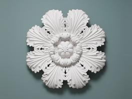 High relief acanthus leaf ceiling rose manufactured in fibrous plaster  500mm Diameter...