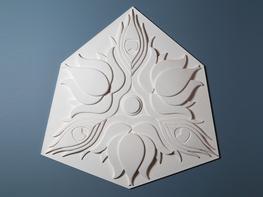 Art Deco A plaster ceiling rose   800mm Ø...