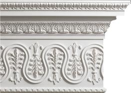 A stunning piece of ornamental plasterwork. One of our most highly enriched cornice mouldings. Manufactured in 3 metre lengths  A harmonious design by Henry Holland; the original is gilded but this moulding would look well painted to match a decorative scheme ...