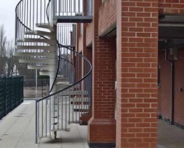 External spiral staircases can be either a functional fire escape or a visual feature, often both. Robust, practical and elegant in appearance, spiral stairs offer versatility not available from conventional staircases....