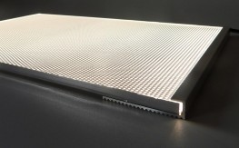LED Light sheet provides a very thin even panel of illumination, typically for backlighting translucent surfaces like glass or onyx.  We use only single bin OSRAM LEDs for highest efficiency and tightest colour control, mounted in an anodised aluminium heatsi...