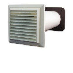 The Passive Vapour Vent Mark 2 contains a permeable membrane within the main plastic circular tube. This encourages moisture migration due the differences between external and internal temperature and air pressure. The membrane acts as a molecular sieve, allow...