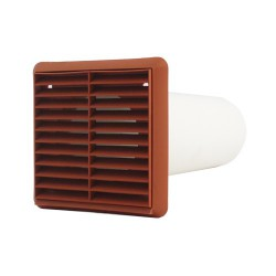 WALL KIT WITH EXTERNAL VENT TERRACOTTA 2M x 100MM ROUND image