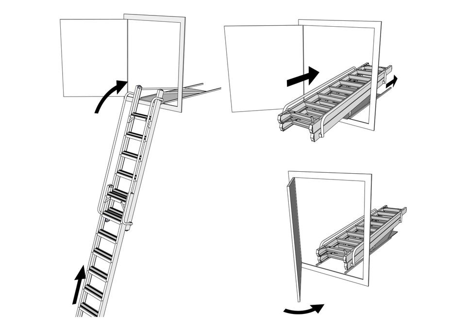 Vertical Carriage Ladder Metal Sliding By Simply Loft