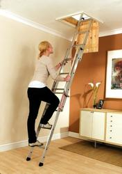 Youngmans Easiway 3 Section Sliding Loft Ladder image