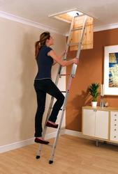 Youngmans Spacemaker 2 Section Sliding Loft Ladder image
