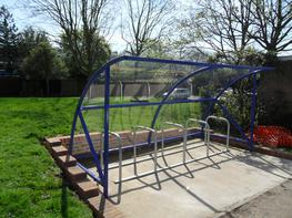 BDS Cycle Shelter - 10 Space Cycle Shelter & Bike Stands image