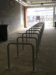 Black & Galvanised Traditional Sheffield Bike Stand image