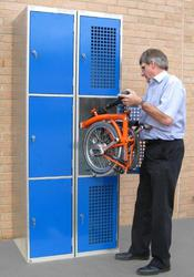 Minimum order quantity is 5nr 3 stack lockersBike lockers for folding bikes with space for a cycle helmet, lock and small bag....