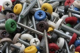 Polymer moulded head available in colours to match on a variety of screw formats. Socket head drive screws keep them safer from tamper. Pan head screws are popularly used in fascias and soffit....