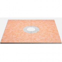 Schlüter ® -KERDI-SHOWER-TB is a sloped tray with a 2% slope and a pre-adhered coating of Schlüter ® -KERDI for the direct installation of tiles in _oor level showers and for the connection of the folded parts of the sloped tray.It is designed to accommo...