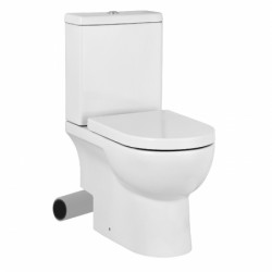 AUSTEN close coupled wc pan 35.5 x 65cm with Left Hand Soil Exit image