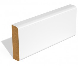 SAM Pencil Round Two Edge skirting or architrave is usually supplied with two coats of water based primer. It is also available unprimed. If you would prefer a profile that does not require any additional painting the SAM Double Round Edge is available fully-f...