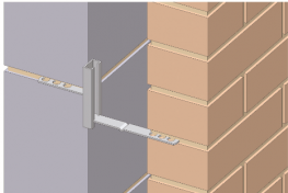 The Fastrack Tie system is designed to overcome a common site problem with differential coursing, or when one leaf of the cavity wall is built prior to the other.