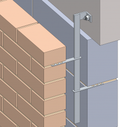 Sliding brick anchors are lateral restraint fixings that provide a mechanical tie between masonry cladding and the structural frame where a movement joint is used.