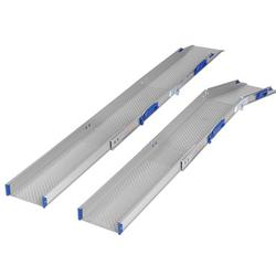 A versatile lightweight extendable aluminium wheelchair ramp or scooter ramp. Uneven thresholds or a particularly high PVC door lip require a special combination of simplicity and versatility. A disability ramp that both extends and folds offers this flexibili...