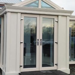 Turkington patio and French doors can replace standard entrance doors or existing older patio styles, upgrading them to a more stylish and energy efficient door which opens up your home to outside. Our patio and French doors can also be installed as part of a new conservatory, and match our range of PVC windows.  Let more light in and enjoy a bigger, brighter looking home Due to the amount of glass used in French and patio doors, these styles have an aesthetic advantage over a half glazed entrance door and can be incorporated within a brick wall of your home to fill it with light and give the illusion of a bigger space.  Our French doors have a classic look suited to traditional styles of property and our patio doors are ideal for newer homes, with 2, 3 or 4 pane patio doors available depending on the size of your property.