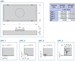 Type LFP - Laminar flow panel primarily for supply air applications - TROX UK Ltd